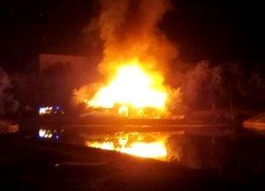 Пожар в Дюковском парке