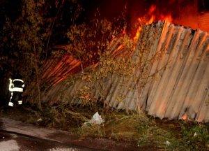 Пожар на складе в Одессе