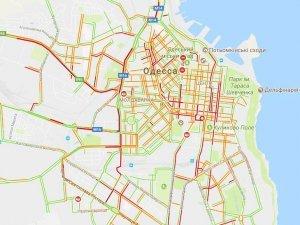 Масштабные пробки в Одессе
