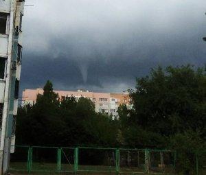 Небесное торнадо над Одессой