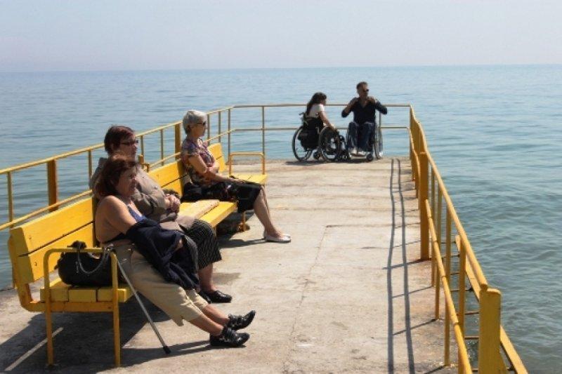 Пляж для людей с ограниченными физическими возможностями