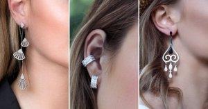 Как выбрать серебряные серьги по типу лица?