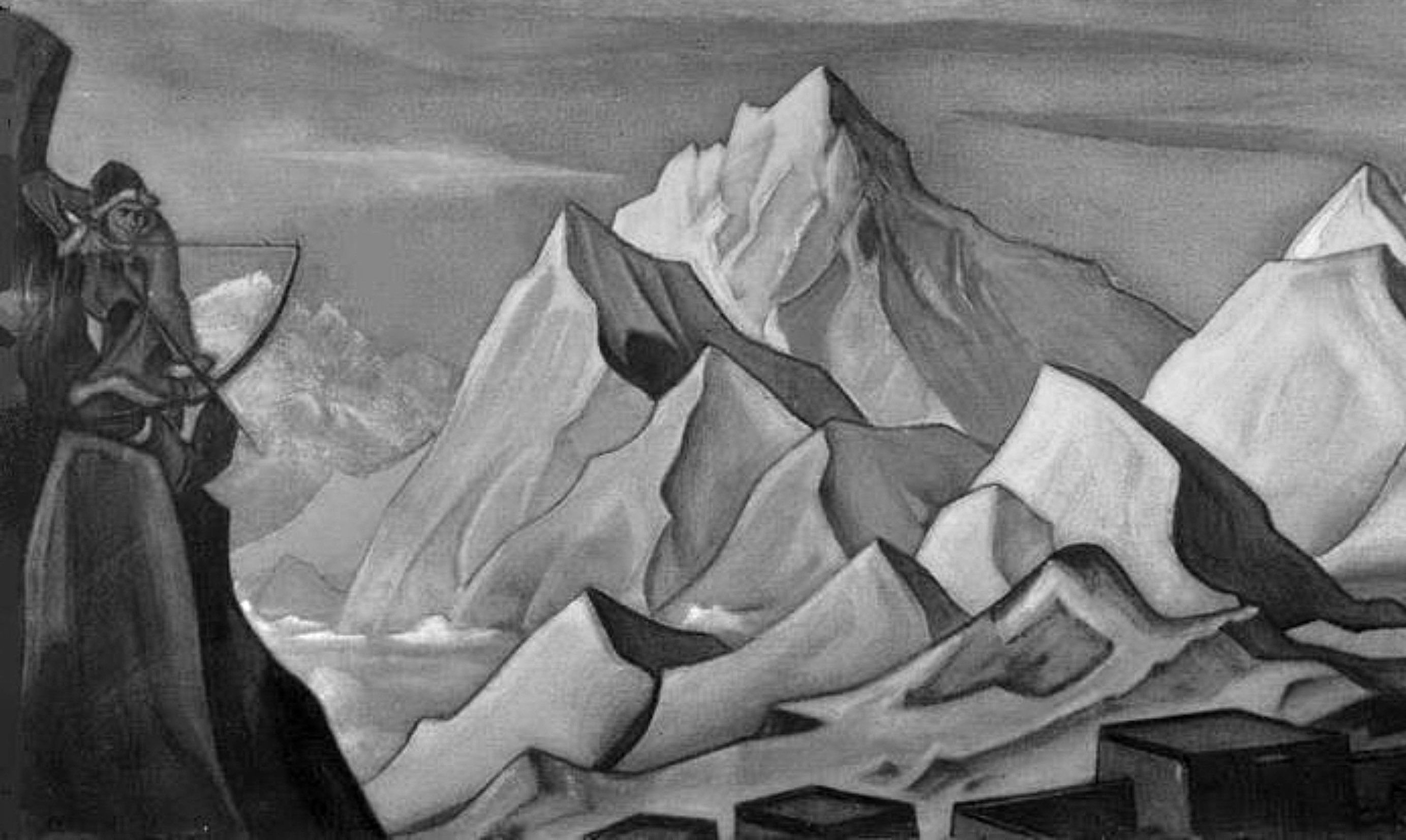 Картина «Весть Шамбалы», где Н. Рерих запечатлел «ламу» Блюмкина