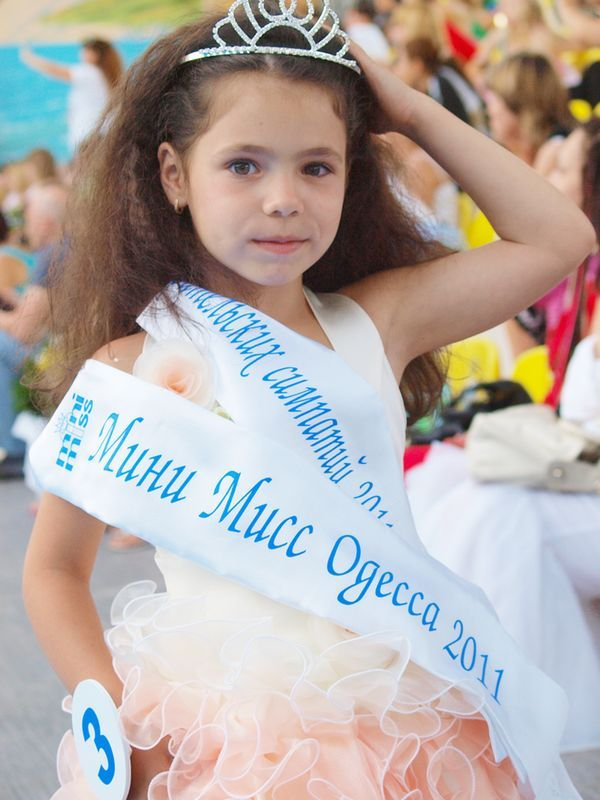 Мини Мисс Одесса 2011 и Мини Мисс Украина 2011 Валерия Зарицкая идет в этом году в первый класс