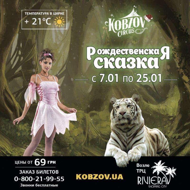 Рождественская сказка от цирка «Кобзов»