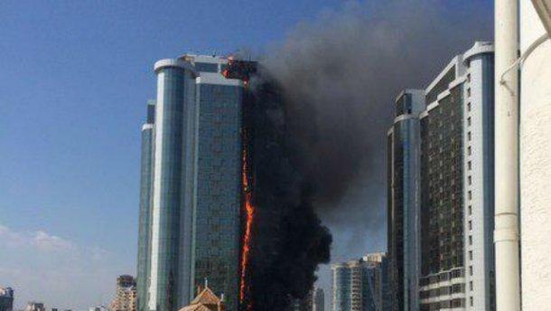 В ГАСКе назвали причину пожара в элитном новострое в Аркадии