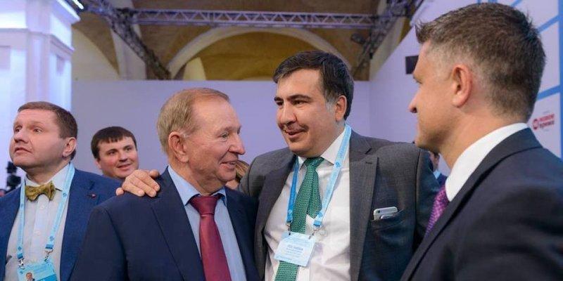 Саакашвили пояснил, почему тепло поздоровался с Кучмой