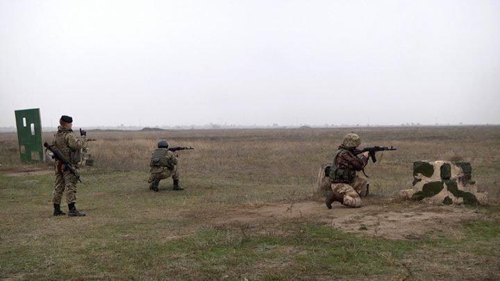 Под Одессой пострелял новый батальон морской пехоты (ФОТО)