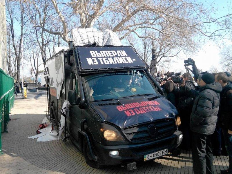 У одесского политика Дарта Вейдера забрали автомобиль: он нарушил ПДД