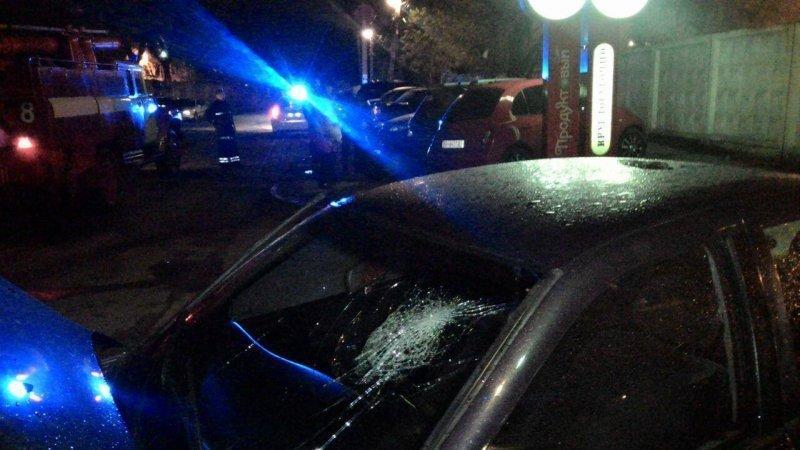 """ДТП на Испанской: """"Opel"""" протаранил три машины, а потом загорелся (ФОТО)"""
