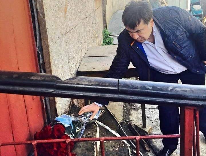 Саакашвили рассказал, где пришлось ночевать отцу семейства во время смертельного пожара