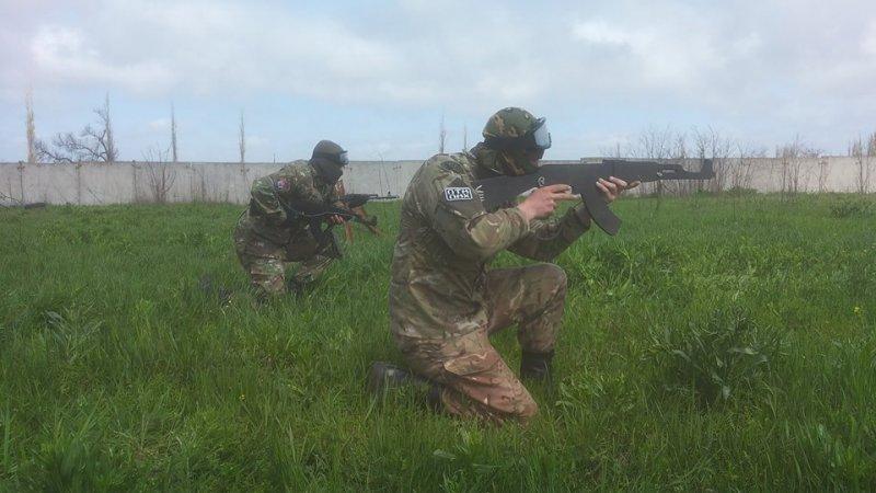 «Правый сектор», «Самооборона» и «РГБ» провели военную тренировку перед 2 мая (ФОТО)