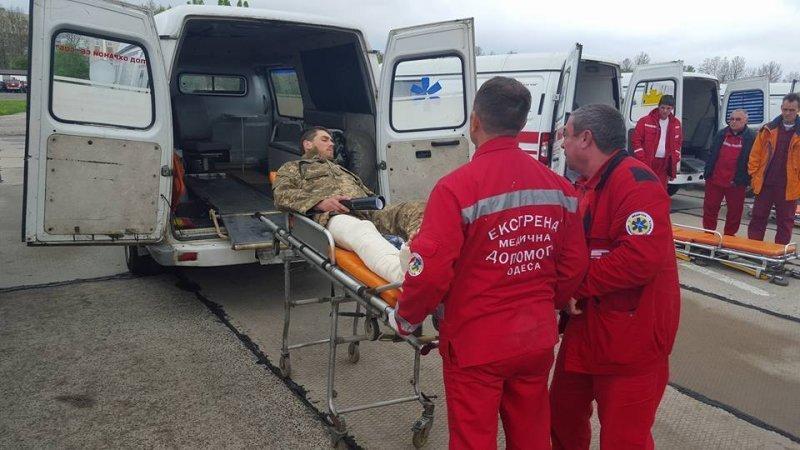 В Одессу доставили 14 раненых бойцов АТО (ФОТО)