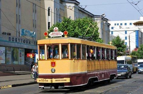 В Одессе пустили бесплатный трамвай счастья