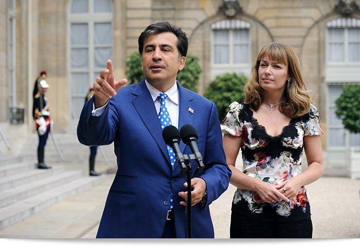 Саакашвили рассказал о политических амбициях своей жены