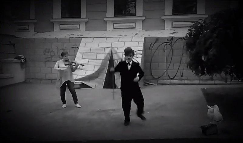 В Одессе появился свой Чарли Чаплин (ВИДЕО)