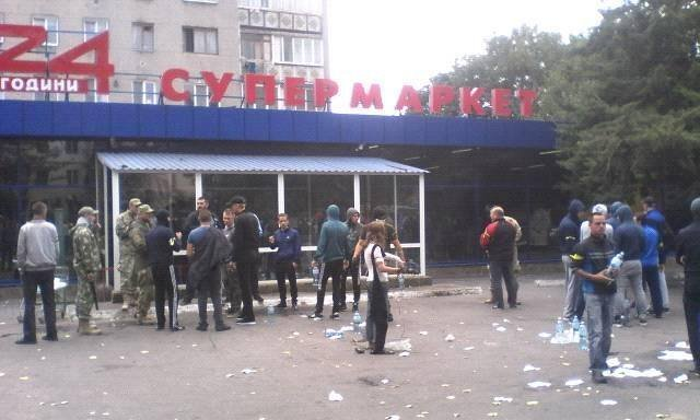 В Черноморске со стрельбой захватили супермаркет (ФОТО)