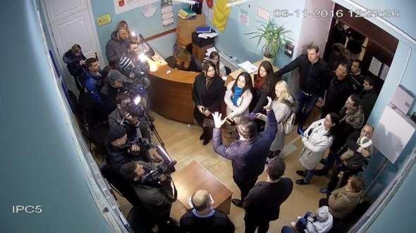 2 минуты пиара от Саакашвили в центре Одессы