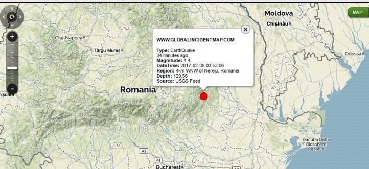 Карпатское землетрясение ощутили в Одесской области