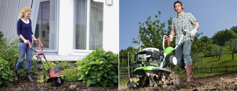 Электрокультиваторы для клумб и огорода