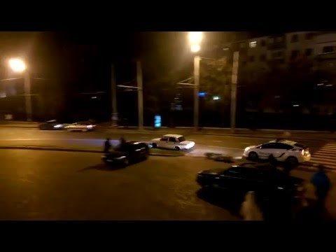 Полиция устроила погоню, которая закончилась аварией (ВИДЕО)