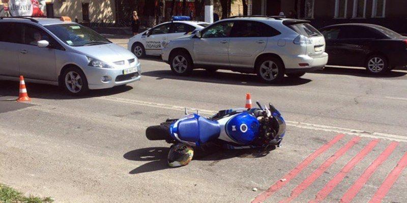 Появилось видео ДТП, где мотоциклист влетел в группу детей (ВИДЕО)