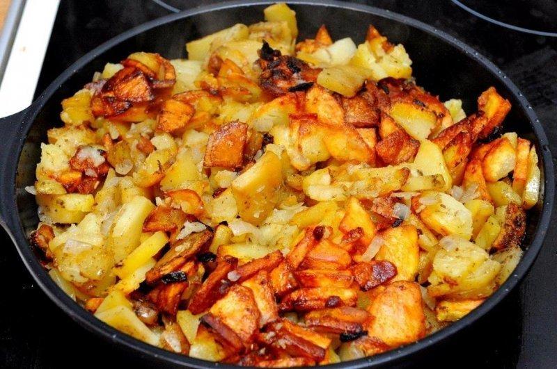 Одесское меню: Картошка с курицей и ананасом