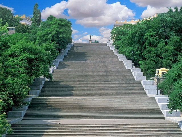 Потемкинская лестница и Стамбульский парк с высоты птичьего полета (ВИДЕО)