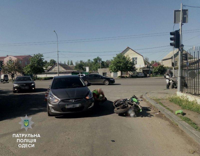 На Черемушках мотоциклист попал в ДТП (ФОТО)