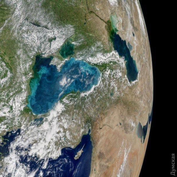 NASA вновь «сфотографировало» Одессу из космоса: море поменяло цвет (ФОТО)