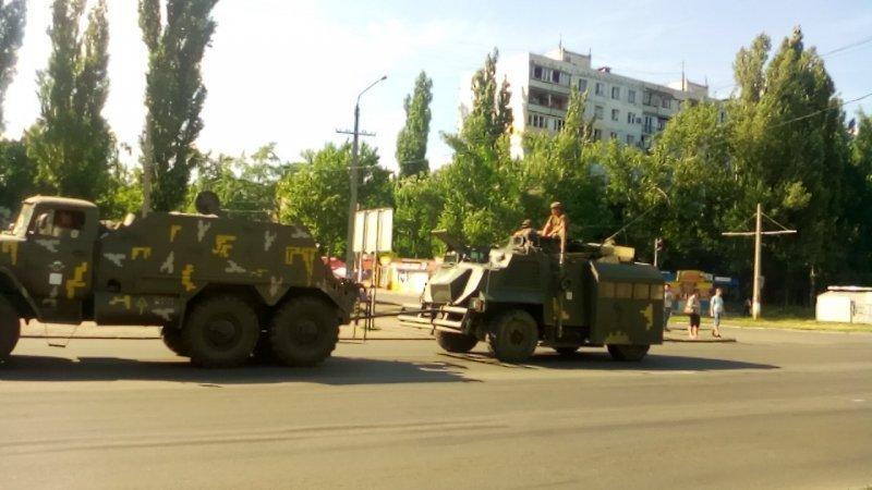 На Котовского замечены танки и военная техника (ФОТО, ВИДЕО)