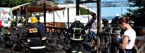 Подробности пожара в Аркадии (ФОТО, ВИДЕО)