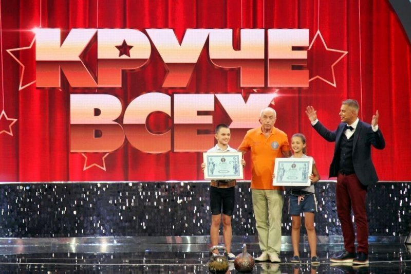 Двое детей установили национальный рекорд Украины в гиревом спорте