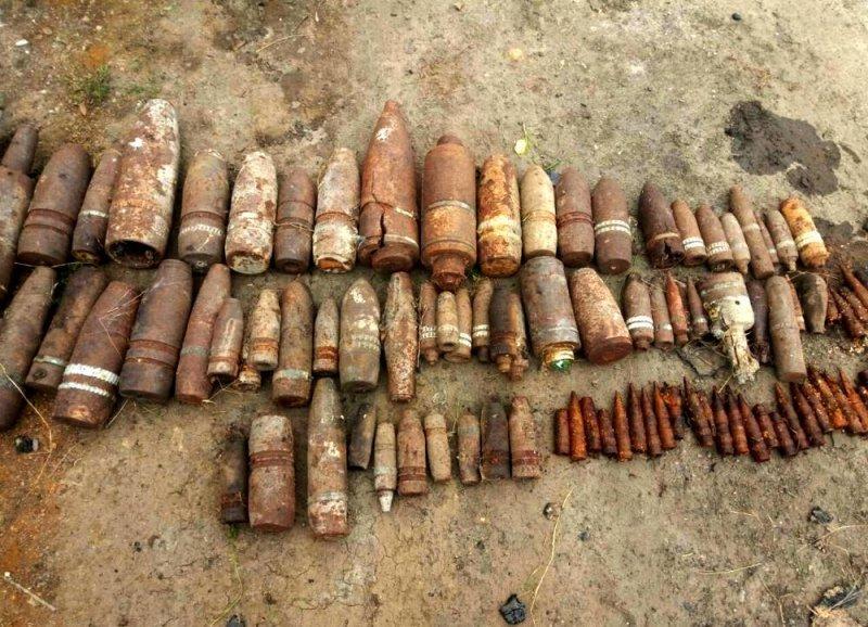 В Одесской области было изъято 35 единиц артиллерийских снарядов