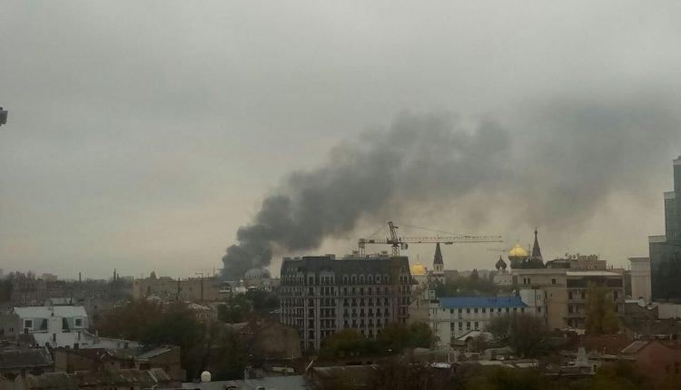В Одессе снова пожар (ФОТО, ВИДЕО)