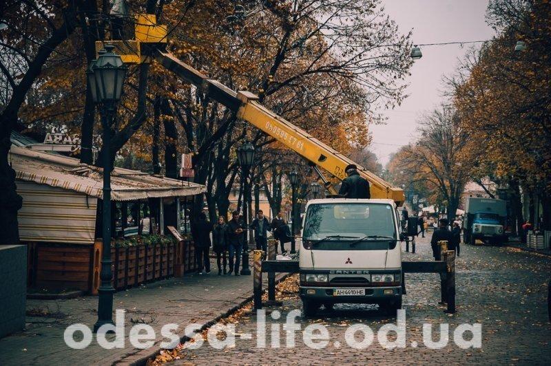 Дерибасовскую готовят к зиме (ФОТО)
