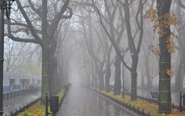 Одессу всё ещё застилает туман