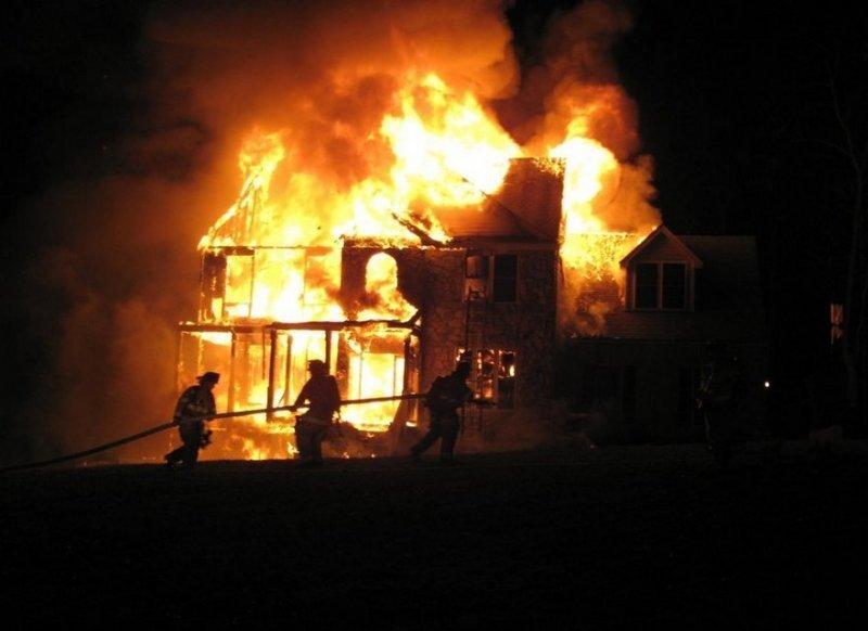 Пожар в оползневой зоне