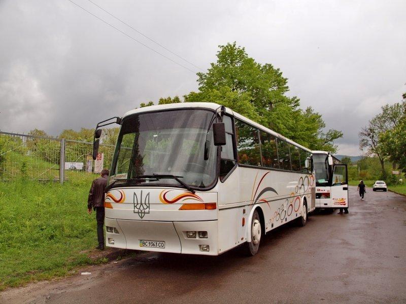 Едем автобусом из Одессы по Украине