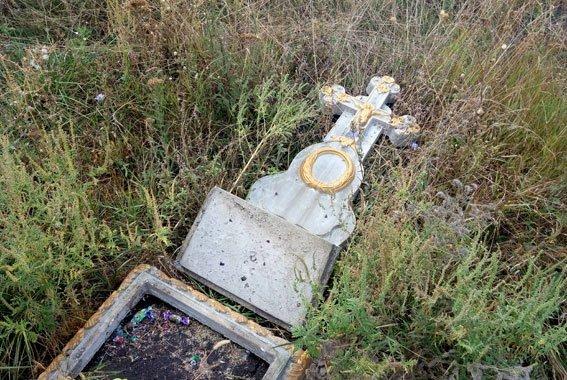 Пьяный дебош на кладбище в Одесской области (ФОТО)