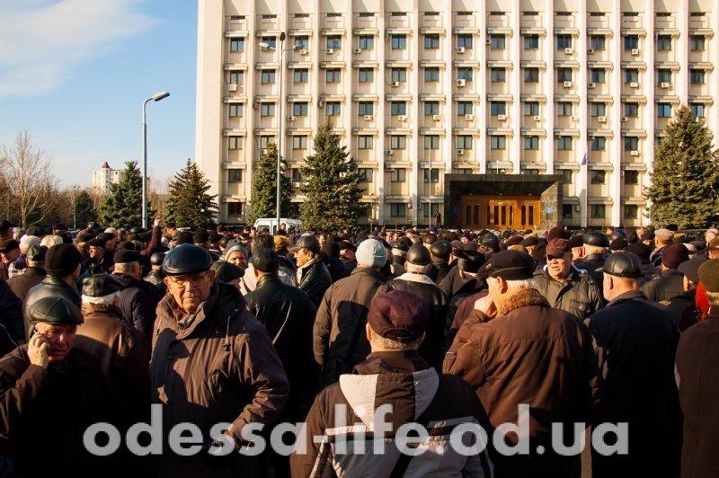 За что митинговали военные пенсионеры в Одессе? (ФОТО)