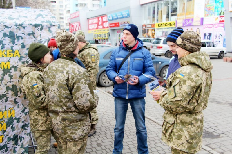 В Одессе агитировали за контракт