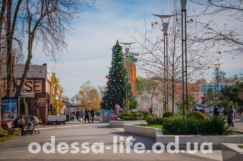 Одесская Аркадия примеряет новогоднее убранство (ФОТО)