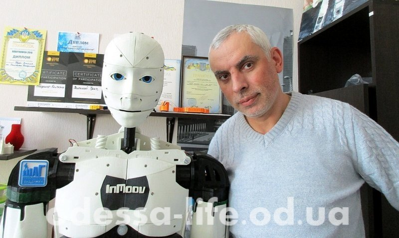 Как «Одесская жизнь» с первым отечественным роботочеловеком знакомилась (ФОТО)