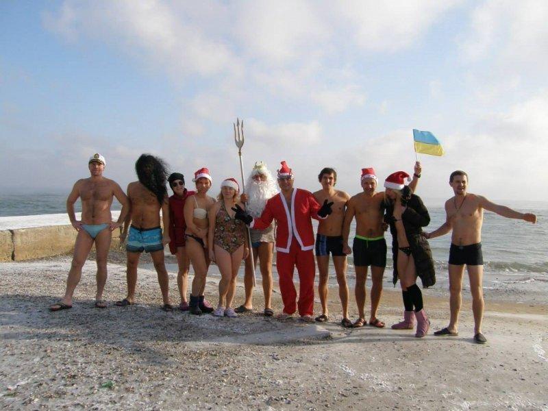 В Одессе состоялся зимний заплыв