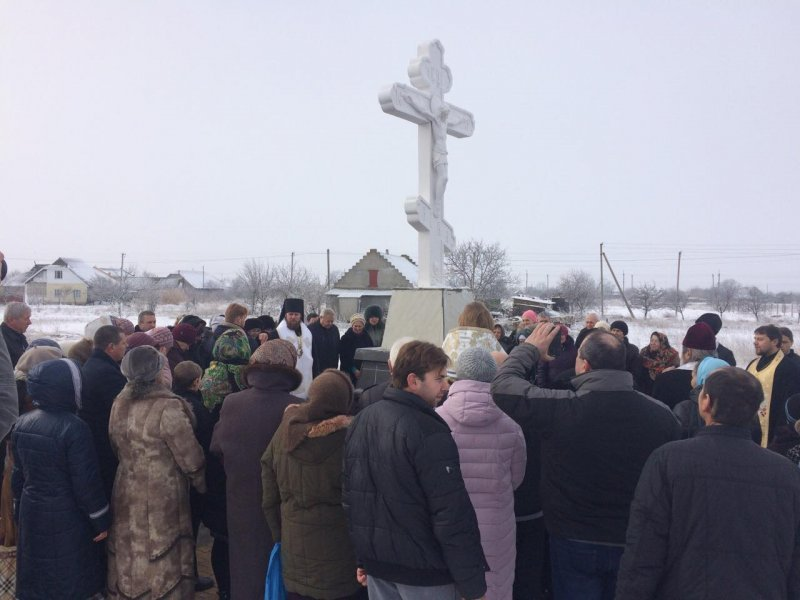 На Килие поставили крест (ФОТО)