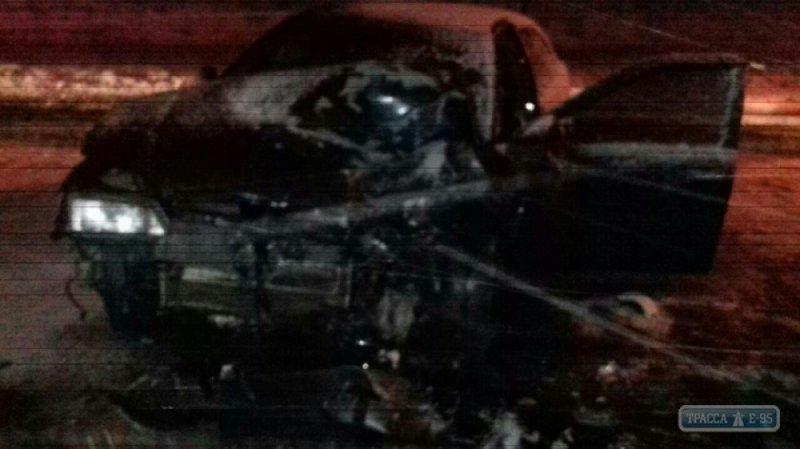 Смертельное ДТП: водитель погиб, пассажир травмирован