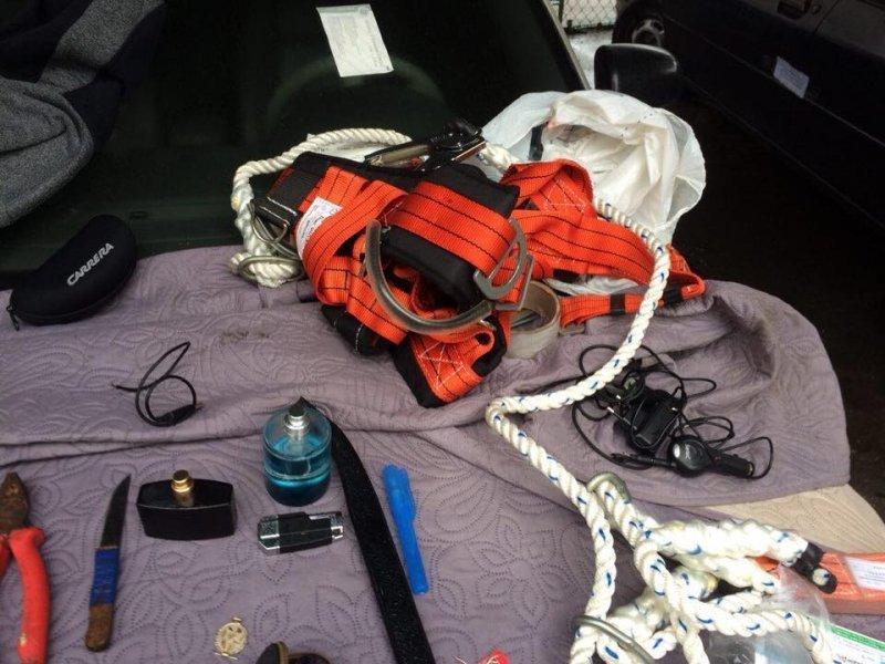 Альпинисты-домолазы задержаны в Одессе (ФОТО)