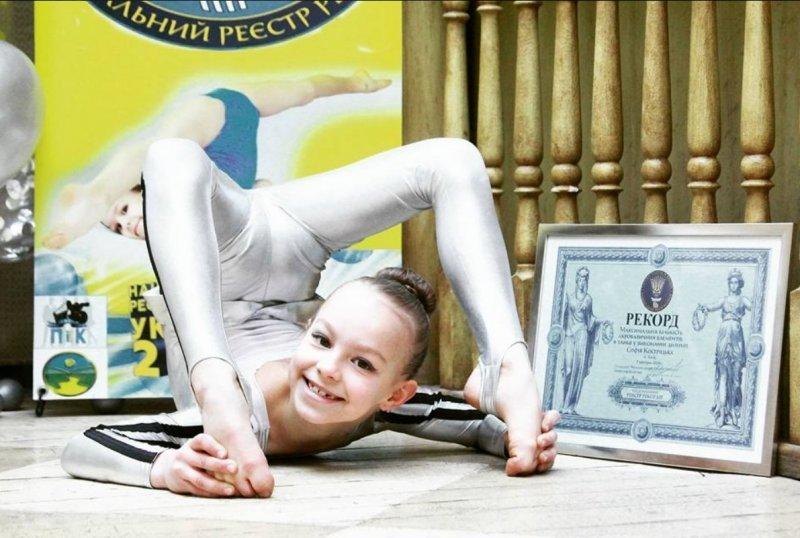 Рекорд Украины установила… 7-летняя девчушка (ФОТО)