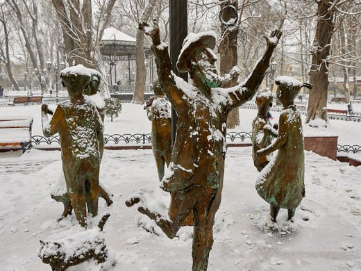 Одесса прощается с зимой (БОЛЬШОЙ ФОТОРЕПОРТАЖ)